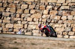 GP DEL GP L'ARAGONA MOTO DANIEL PEDROSA E VALENTINO ROSSI Fotografia Stock