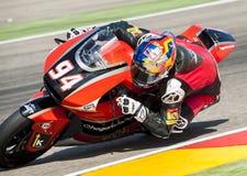 GP DEL GP L'ARAGONA MOTO MOTO 2 RIDER JONAS FOLGER Immagine Stock Libera da Diritti