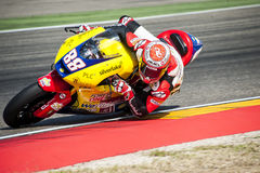 GP DEL GP L'ARAGONA MOTO MOTO 2 RIDER RICARD CARDUS Immagini Stock Libere da Diritti
