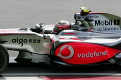 GP del Malaysian F1 - Heikki Kovalainen (McLaren) Imagenes de archivo