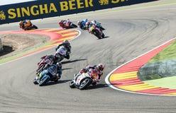 GP DO GP ARAGON MOTO Fotos de Stock