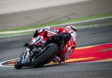 GP DO GP ARAGON MOTO Andrea Dovizioso Fotografia de Stock Royalty Free