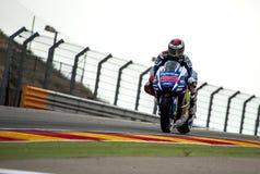 GP DO GP ARAGON MOTO Jorge Lorenzo Imagens de Stock Royalty Free