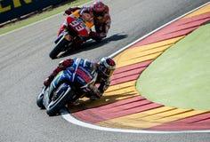GP DO GP ARAGON MOTO Jorge Lorenzo e Marc Marquez Fotos de Stock