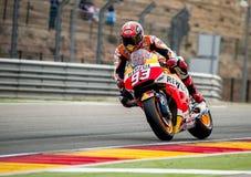 GP DO GP ARAGON MOTO Marc Marquez Imagens de Stock