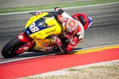 GP DO GP ARAGON MOTO MOTO 2 RIDER RICARD CARDUS Imagens de Stock Royalty Free