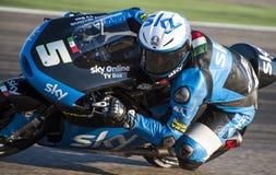 GP DO GP ARAGON MOTO MOTO 3 RIDER ROMANO FENATI Imagens de Stock Royalty Free