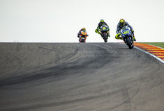 GP DO GP ARAGON MOTO Valentino Rossi Foto de Stock Royalty Free