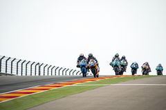 GP FÖR GP ARAGON MOTO Moto 3 Royaltyfria Foton