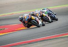 GP FÖR GP ARAGON MOTO Moto 3 Miguel Oliveira Royaltyfri Fotografi