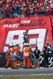 GP FÖR GP CATALUNYA MOTO - ALEX MARQUEZ Royaltyfri Fotografi