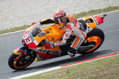 GP 2015 FÖR GP CATALUNYA MOTO - MARC MARQUEZ Arkivbilder