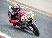 GP 2015 FÖR GP CATALUNYA MOTO - MOTO 3 NICCOLO ANTONELLI Arkivbild