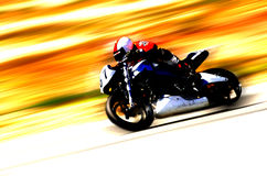 GP Racing 3. Screaming Motorcycle Stock Photography