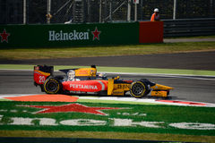 GP2 Series car driven by Antonio Giovinazzi royalty free stock photo