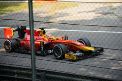 GP2 Series car driven by Norman Nato. Racing Engineering team Dallara Formula Car during Friday free practice session of the 2016 GP2 Series race at the royalty free stock photography