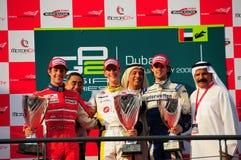 GP2 Asia Podium. Poduim, at GP2 Asia, round 1 & 2, in Dubai, Jan.08 stock images
