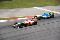 GP2 Asia Series 2009 Overtaking Action Stock Images