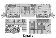 GP9-558 locomotive Royalty Free Stock Image