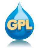 GPL blue drop Stock Images