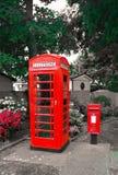 GPO-phonebox och PO-bokstavsask Royaltyfri Fotografi