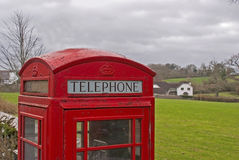 GPO phonebox. GPO phone box in a rural village Stock Photos