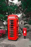 GPO phonebox and PO letterbox Royalty Free Stock Photography