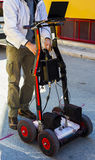 GPR is a noninvasive method used in geophysics Royalty Free Stock Photography