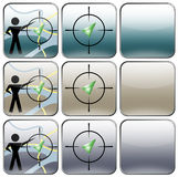 GPS navigator buttons, design Stock Photos