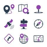 GPS和定位图标 免版税库存图片