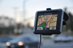 GPS在蒙特里加州 库存图片