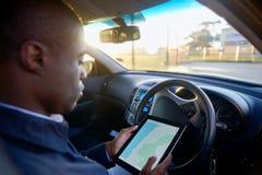 Gps地图驾驶 免版税库存图片