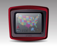 GPS с картой США Стоковая Фотография RF