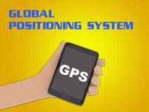 GPS -全球定位系统概念 库存图片