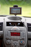 GPS. Auto console with GPS map Stock Image