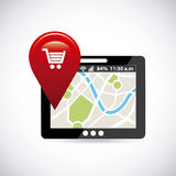 Навигация GPS Стоковое фото RF