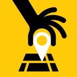 GPS导航员,例证,传染媒介 库存照片