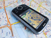 GPS. Smartphone PDA with GPS capability royalty free stock photo