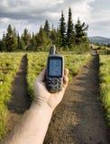 GPS alla giunzione della traccia Fotografia Stock Libera da Diritti