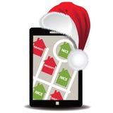 GPS app Санты для того чтобы увидеть кто капризный или славно иллюстрация вектора