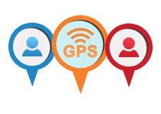 GPS app Logo Royalty Free Stock Photography