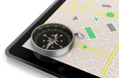 Gps application Stock Images