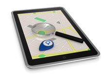 Gps application Royalty Free Stock Photos