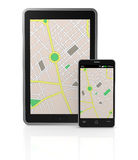 Gps application Royalty Free Stock Image