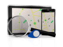 Gps application Stock Image