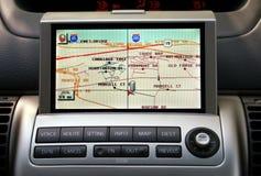 Gps-Auto Naviagion Lizenzfreies Stockbild