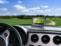gps auto nawigator Obraz Stock
