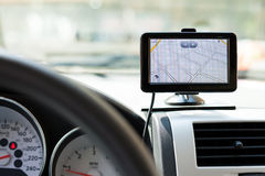 GPS-autonavigatie Royalty-vrije Stock Afbeelding