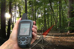 GPS avec la carte