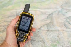 GPS avec le signal faible images libres de droits